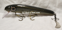 """Pearson Plugs 6"""" Minnow Shallow Diving with Hatchet Trailer Color  Color, Brown Shad"""