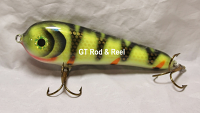 """Smuttly Dog Baits Lures 5"""" Stubby C, Color; White Perch"""