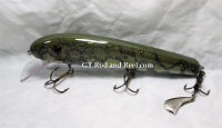 "Pearson Plugs 8"" Minnow Shallow Diving with Hatchet Trailer Color, Lake Of The Woods Walleye"