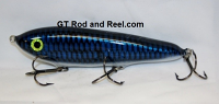 "Smuttly Dog Baits Lures 7"" Minnow, Color; Electric Blue Carp"