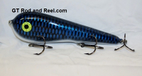 "Smuttly Dog Baits Lures 7"" Stubby D, Color; Electric Blue Carp"