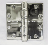 "Hager Hinge BB1168 Full Mortise Hinge 4 1/2"" x 4 1/2"" US26d Polished Chrome"