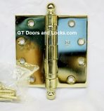 BB1279-US3-4.5x4.5 w/ Ball Tips Polished Brass