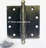 BB1279-US5-4.5x4.5 w/ Ball Tips Antique Brass