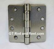 """Hager RCBB1279 Hinge 1 Each 4"""" x 4"""" 1/4"""" Radius Ball Bearing Hinges US15 Satin Nickel"""