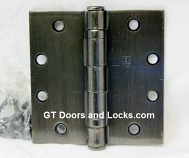 "Hager Hinge BB1191 Full Mortise Ball Bearing Hinge 4"" x 4"" US10d Oil Rubbed Bronze Dark"