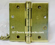 "Hager Hinge BB 1279 4.5"" x 4.5"" Square Corner US4 Satin Brass"