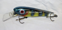 "Smuttly Dog Baits 6"" Troller/Crankbait Color Neon Blue Perch"
