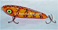 "Smuttly Dog Baits Lures 6"" Drop Belly, Color; Orange Diamond"