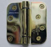 "Hager Hinges 1752 5/8"" Radius US3 Polished Brass 4"" x 4"" r7189 426r Self Closing Hinge"