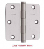 "Baldwin Hinges 1435 1/4"" Radius Corner Hinge 3.5"" x 3.5"" Lifetime Satin Nickel"
