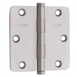 "Baldwin Hinges 1435 1/4"" Radius Corner Hinge 3.5"" x 3.5"" Satin Nickel"