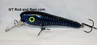 "Smuttly Dog Baits 6"" Troller/Crankbait Color Electric Blue Carp"