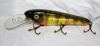"Smuttly Dog Baits 8"" Troller/Crankbait Red Gill Perch"