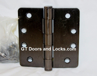 "Hager RC1279 Hinge 1 Each 4"" x 4"" 1/4"" Radius Hinges US10b Oil Rubbed Bronze"