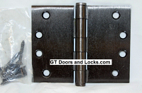 "Hager WT1279 Hinge 1 Each 4"" x 5"" Square Corner US10D Black Bronze Oiled Hager Wide Throw Hinges"