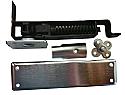 Bommer 7811-651 Horizontal Spring Pivot with Floor Plate-Medium Duty-Hold Open-Steel US26d Satin Chrome