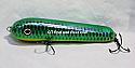 "Jack Cobb Countdown 6"" Rattling Round Nose Musky Bait Lure ""THE ORIGINAL ROUND NOSE LURE""  Color Emerald Green Sucker"