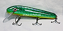 "Jack Cobb 7"" Slim Jim Crank Bait Color Emerald Green Sucker"