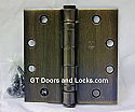 "Hager Hinge BB1191 Full Mortise Ball Bearing Hinge 4"" x 4"" US10b Oil Rubbed Bronze"