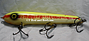 "Hughes River Musky 8"" Hughey Bait Color; Red Stripe Shad Sharp Nose"