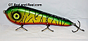 """Smuttly Dog Baits Lures 7"""" Stubby D, Color; Blood Belly Sparkling Tiger"""