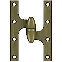 "Deltana OK6040B5- 6"" x 4"" Hinge, Antique Brass RH"