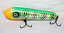 """Jack Cobb Countdown 6"""" Rattling Round Nose Musky Bait Lure """"THE ORIGINAL ROUND NOSE LURE""""  Color Green Sunfish"""