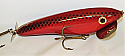 """Hughes River Musky Lure 6"""" Little Speedwaker Great Muskie Topwater Color Red Rage"""