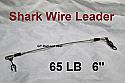 """65 LB EZ Clip Shark Wire Leader 7x7 49 Strand Nylon Coated Wire-6"""""""