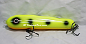 "Jack Cobb Countdown 6"" Rattling Round Nose Musky Bait Lure ""THE ORIGINAL ROUND NOSE LURE""  Color Chartreuse Moose"