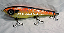 """Smuttly Dog Baits Lures 8"""" Drop Belly 8DB Musky Glide Bait  Color: Orange Crush"""