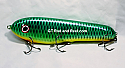 "Jack Cobb 8"" Rattling Crazy Shad Countdown Musky Bait Color; Emerald Green Sucker"