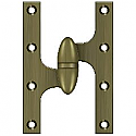 "Deltana OK6040B5-L 6"" x 4"" Hinge, Antique Brass LH"