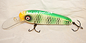 """Jack Cobb 6"""" Deep Diving Rattling Troller Color Green Sparkling Sunfish"""