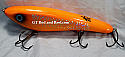 "Hughes River Musky 8"" Shaker Bait Color; Halo Orange"