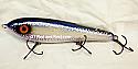 "Smuttly Dog Baits Lures 8"" Drop Belly 8DB Musky Glide Bait  Color: Violet Blue Cisco"