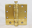 "Hager Hinge BB1199 Full Mortise Hinge 4 1/2"" x 4 1/2"" Us4 Satin Brass"