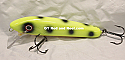 """Jack Cobb 6"""" Rattling Shallow Diver Crank Twitch Bait Color Chartreuse Moose"""