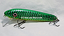 "Jack Cobb 6"" Rattling Shallow Diver Crank Twitch Bait Color Emerald Green Sucker"