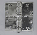 "Hager Hinge BB1199 Full Mortise Hinge 4 1/2"" x 4 1/2"" Us26 Polished Chrome"