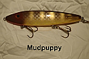 "Fat AZ 8"" Stinger Musky Glide Bait Mud Puppy"